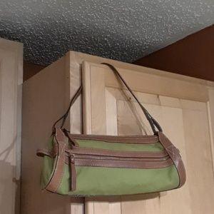 Kate Spade Canvas And Leather Shoulder Bag